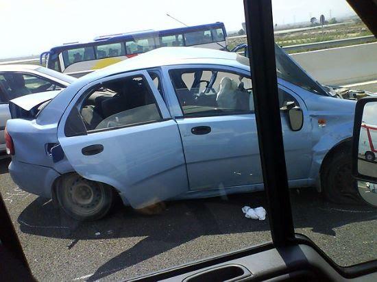 Cuatro marroquíes heridos graves en un accidente de tráfico en Alhama, Foto 1