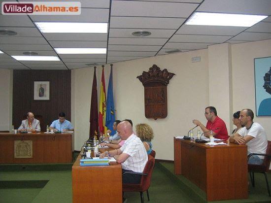 Primer pleno extraordinario del Ayuntamiento de Alhama donde se acordaron las retribuciones de los miembros de la corporación municipal., Foto 3