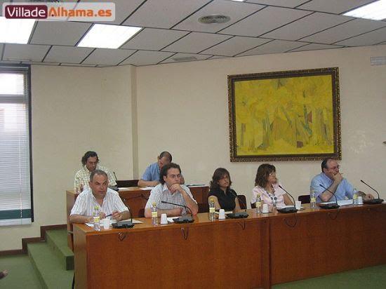 Primer pleno extraordinario del Ayuntamiento de Alhama donde se acordaron las retribuciones de los miembros de la corporación municipal., Foto 4