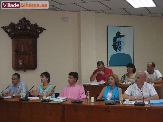 Primer pleno extraordinario del Ayuntamiento de Alhama donde se acordaron las retribuciones de los miembros de la corporación municipal., Foto 5