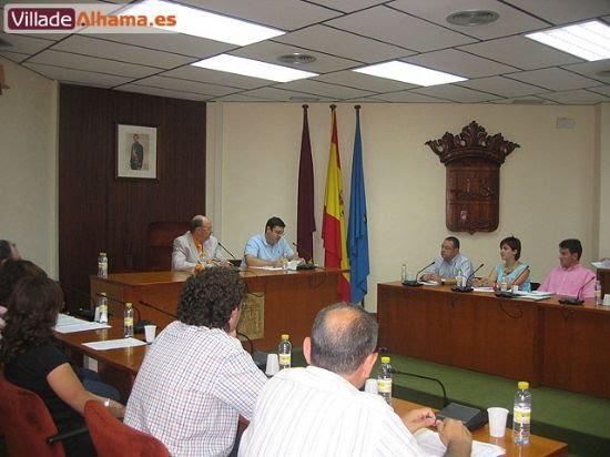 Primer pleno extraordinario del Ayuntamiento de Alhama donde se acordaron las retribuciones de los miembros de la corporación municipal., Foto 6