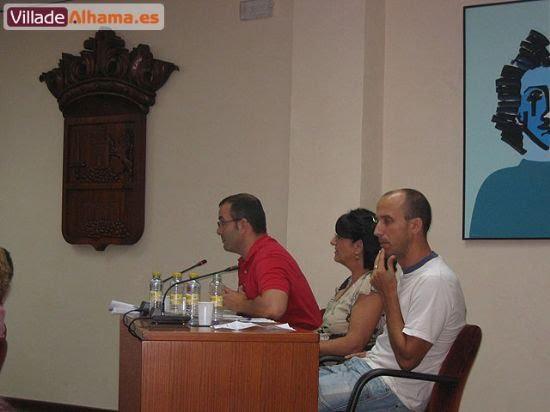 Primer pleno extraordinario del Ayuntamiento de Alhama donde se acordaron las retribuciones de los miembros de la corporación municipal., Foto 7