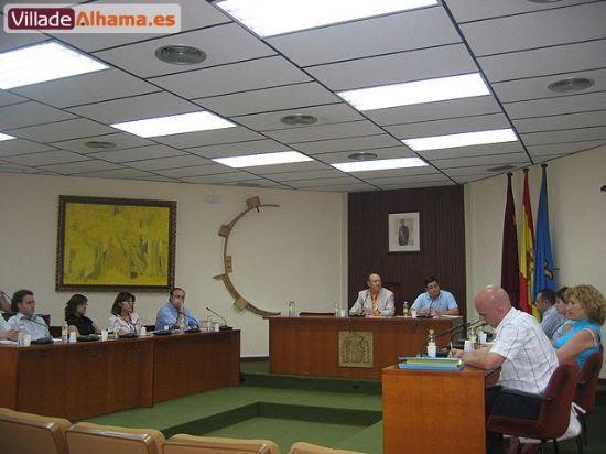 Primer pleno extraordinario del Ayuntamiento de Alhama donde se acordaron las retribuciones de los miembros de la corporación municipal., Foto 8