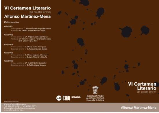 El sábado 13 de mayo se reúne el jurado calificador del VI Certamen Literario de Relato Breve Alfonso Martínez-Mena , Foto 1