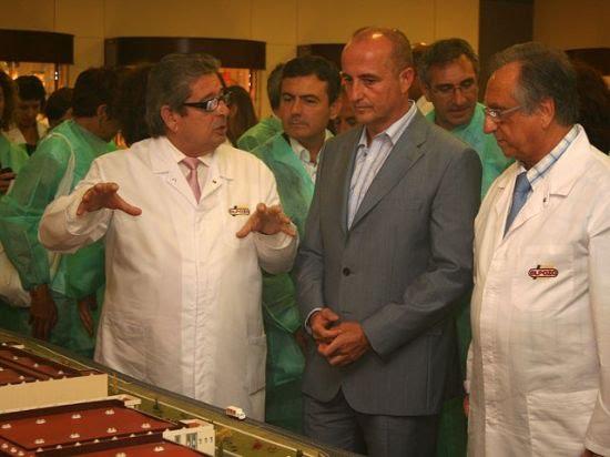 El ministro de Industria, Miguel Sebastián, visitó las instalaciones de ElPozo, Foto 1