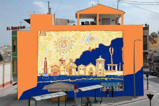 Una pintura de Fernando Martínez se convertirá en un enorme mural que decorará la pared de la parada de autobuses, Foto 1