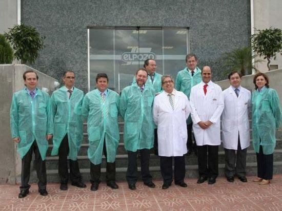 El Consejero de Empleo y Formación visita las instalaciones de Elpozo alimentación junto a su equipo directivo, Foto 1